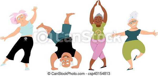 personne agee, yoga - csp40154813