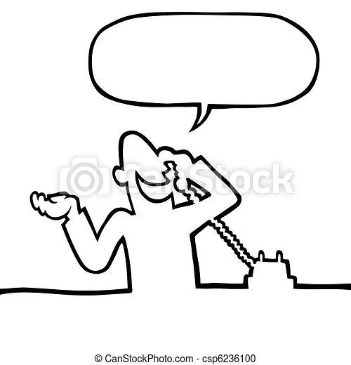 personne, appeler, téléphone - csp6236100