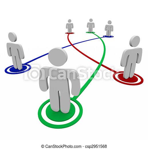 personnel, connexions, association, -, liens - csp2951568