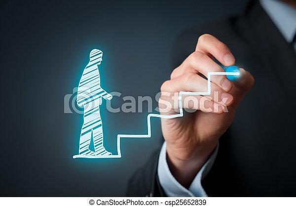 personnel, développement, carrière - csp25652839