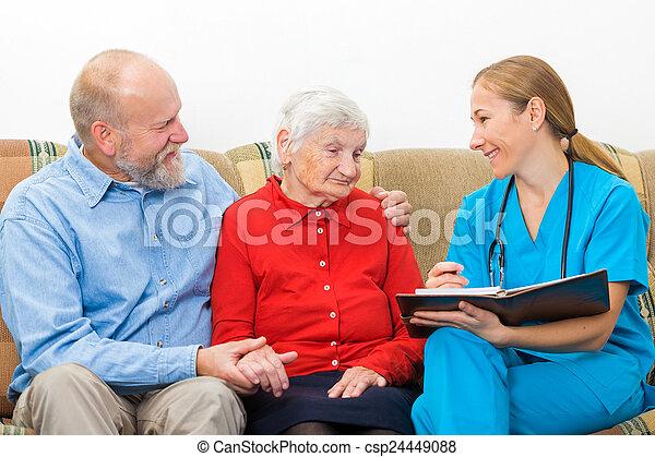 personnes âgées soucient - csp24449088
