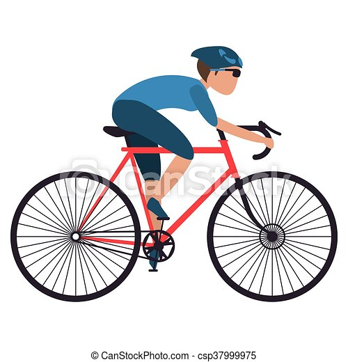persoon, fiets helpend - csp37999975