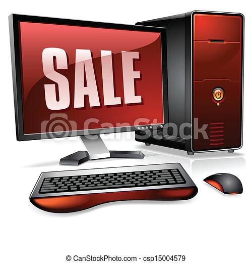 persoonlijk, realistisch, computer, desktop - csp15004579