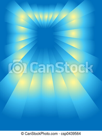 perspective, blue-yellow - csp0439564
