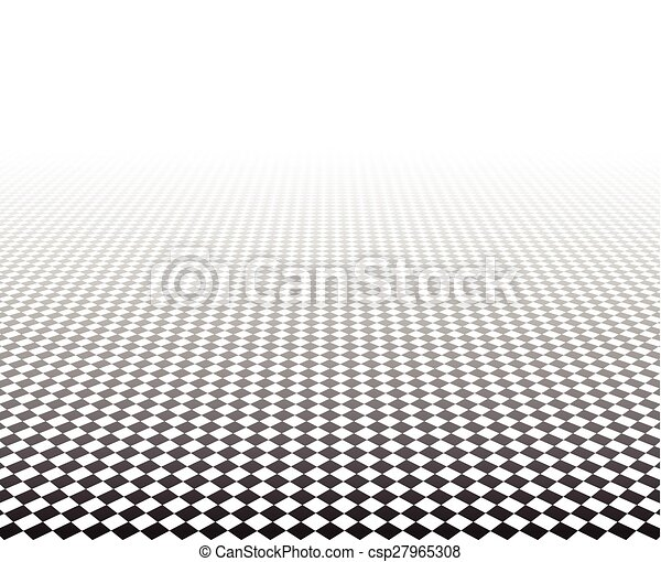 perspective, surface., checkered - csp27965308