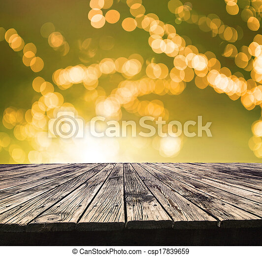 Perspective textured of top old wood table with beautiful stock
