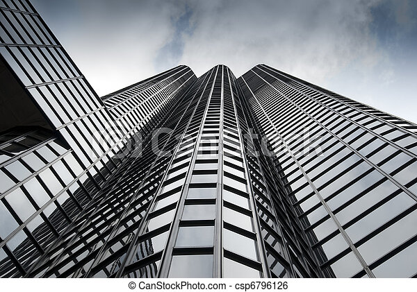 perspective view of modern building - csp6796126