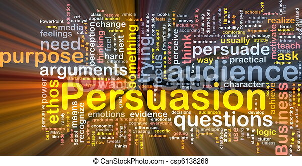 Persuasion background concept glowing - csp6138268