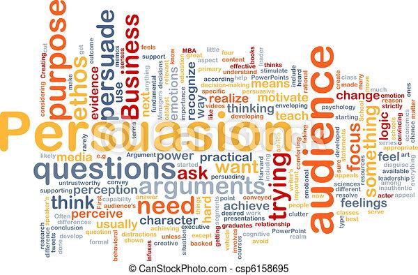 Persuasion background concept - csp6158695