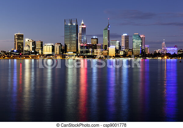Perth by Night - csp9001778