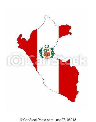 peru flag map peru country flag map shape national symbol