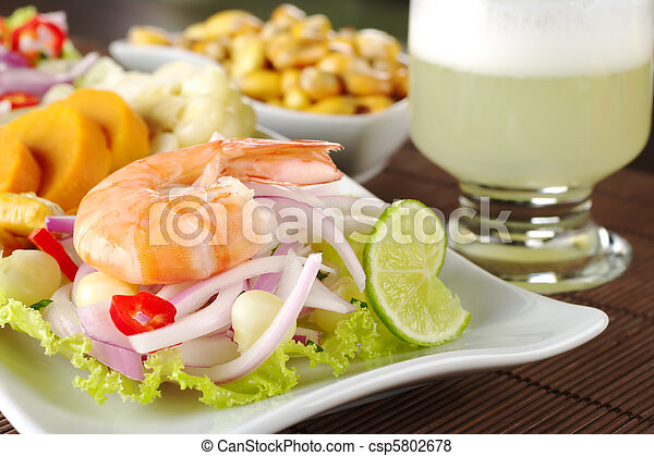 Peruvian Ceviche with King Prawn - csp5802678