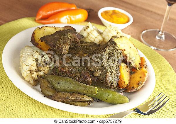 Peruvian Food Called Pachamanca  - csp5757279