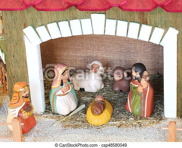 Peruvian People That Symbolize The Holy Family Of The Christmas