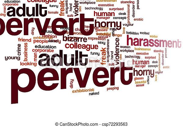 Pervert word cloud - csp72293563
