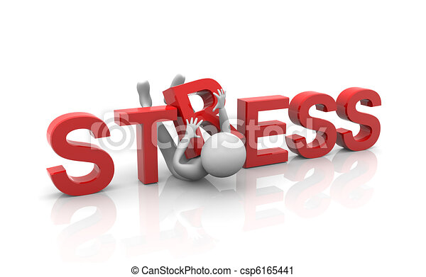 Concepto de estrés pesado - csp6165441