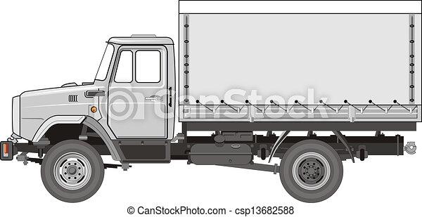 pesado, caminhão - csp13682588