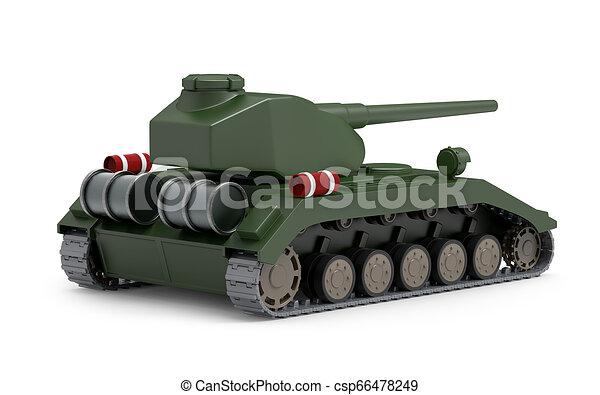 Tanque pesado espalda fantástica - csp66478249