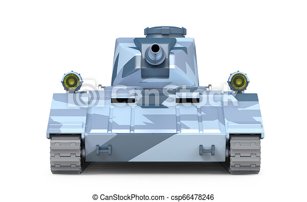 Tanque pesado frente fantástico - csp66478246