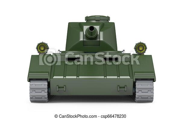 Tanque pesado frente fantástico - csp66478230