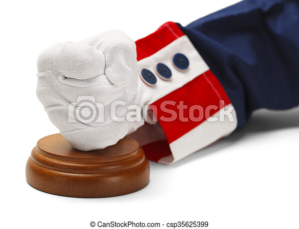 pesado, justiça, mão - csp35625399