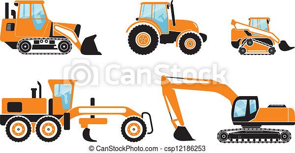 pesado, máquinas - csp12186253