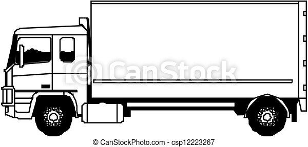 pesado, vetorial, caminhão - csp12223267