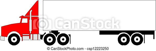 pesado, vetorial, caminhão - csp12223250