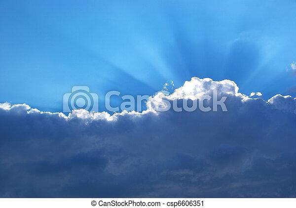 pesante, sole, nuvola - csp6606351