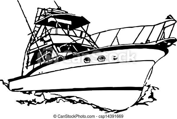 pesca del deporte, barco - csp14391669