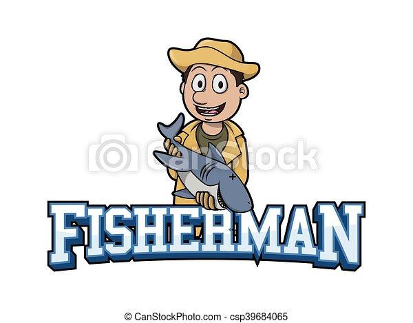 Pescador Bandeira Ilustracao Pescador Desenho Bandeira