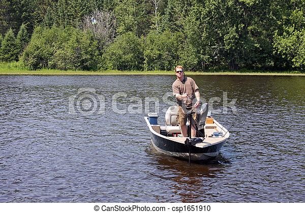 pescador, barco - csp1651910