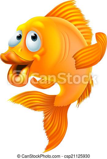 pesce rosso, cartone animato - csp21125930