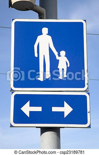 Pesdestrian Street Sign - csp23189781