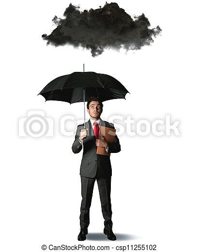 Pessimist in business - csp11255102