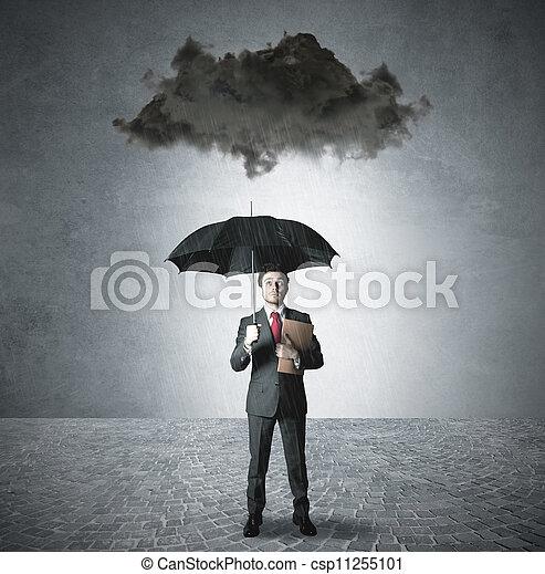 pessimista, affari - csp11255101
