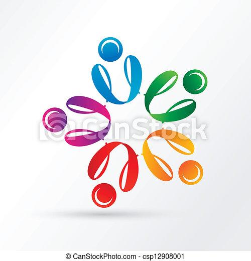 pessoa, círculo, grupo - csp12908001