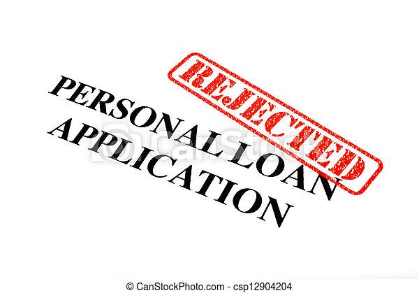 pessoal, aplicação, empréstimo, rejeitado - csp12904204