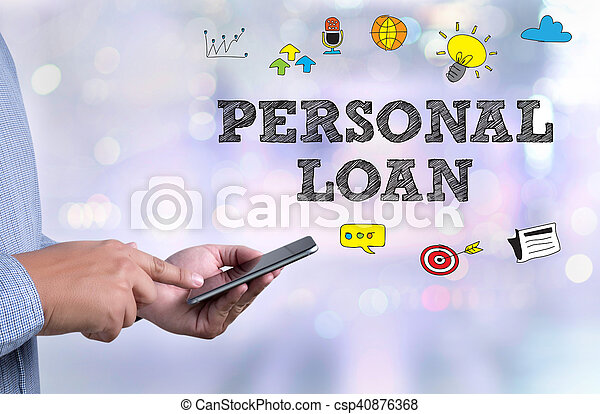 pessoal, empréstimo - csp40876368