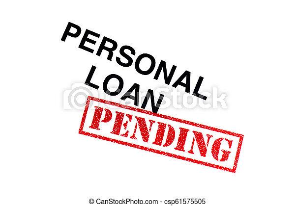 pessoal, empréstimo, pendente - csp61575505