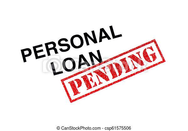 pessoal, empréstimo, pendente - csp61575506
