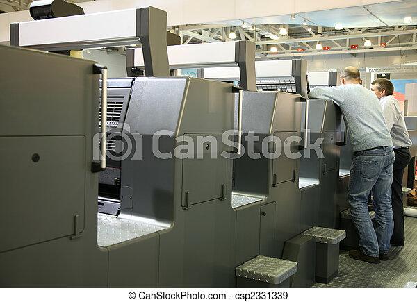 pessoal, impresso, serviço, equipamento - csp2331339