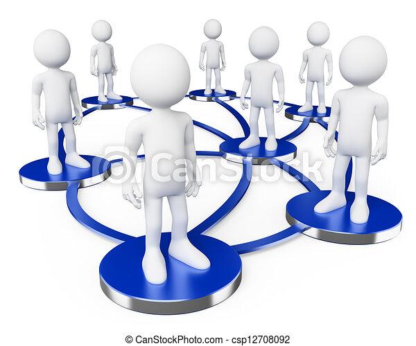 pessoas., branca, 3d, redes, social - csp12708092