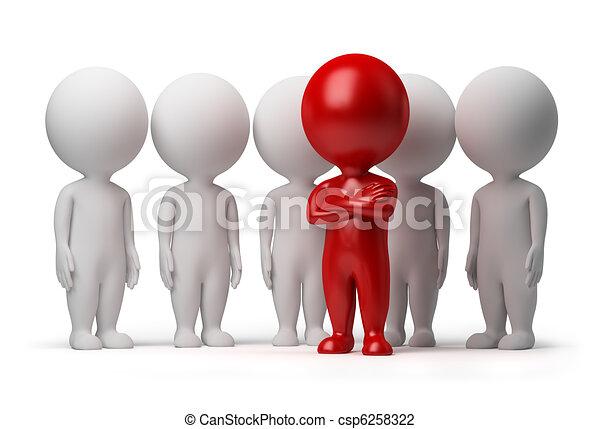 pessoas, -, equipe, pequeno, líder, 3d - csp6258322