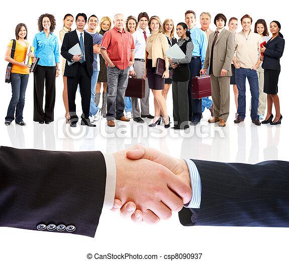 pessoas, handshake., negócio, meeting. - csp8090937