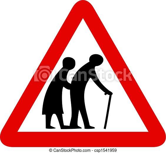pessoas, idoso, sinal - csp1541959
