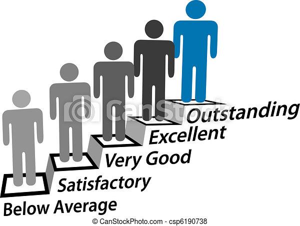 pessoas, melhoria, passo, excelente, realização, cima - csp6190738