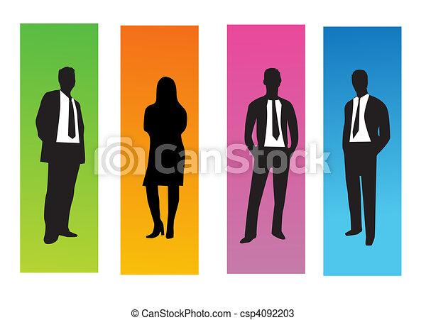 pessoas negócio - csp4092203