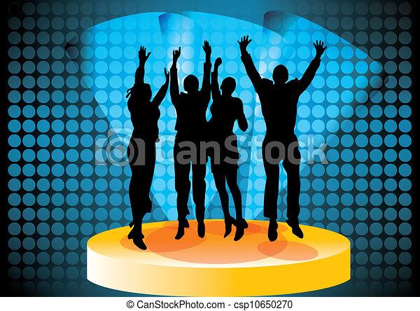 pessoas, partido, dançar - csp10650270