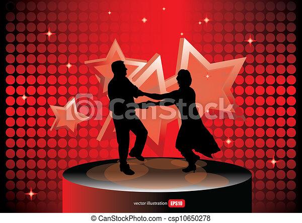 pessoas, partido, dançar - csp10650278